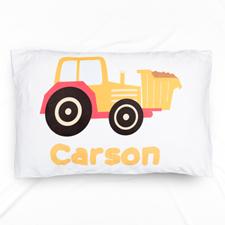 Dumper Truck Personalised Name Pillowcase