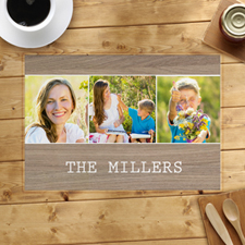 Wood Three Collage Personalised Placemat
