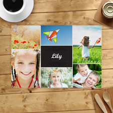 Six Collage Photo Personalised Placemat