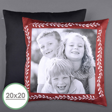 Red Frame Personalised Photo Large Pillow Cushion Cover 20
