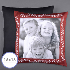 Red Frame Personalised Photo Pillow Cushion Cover 16