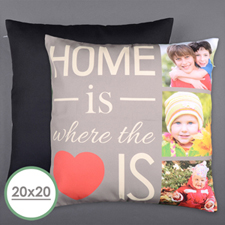 Home Is Love Personalised Photo Large Pillow Cushion Cover 20
