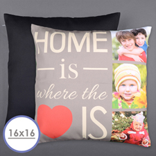 Home Is Love Personalised Photo Pillow Cushion Cover 16
