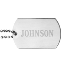 Personalised Name Engraved Dog Tag Pendant