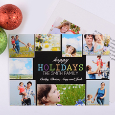 Cheerful Holiday Personalised Photo Card