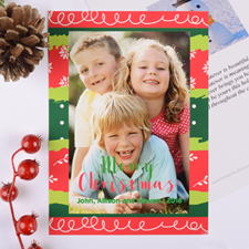 Colourful Christmas Personalised Photo Card