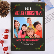 Merry Berry Personalised Christmas Photo Card