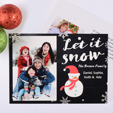 Let It Snow Personalised Photo Christmas Card