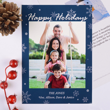 Holiday Blessing Personalised Christmas Photo Card