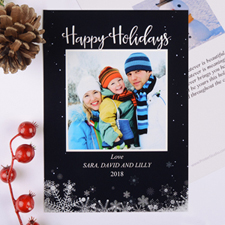 Frozen In Time Personalised Photo Christmas Card