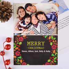 Merry Frame Personalised Photo Christmas Card