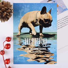 Paw Print Personalised Photo Christmas Card