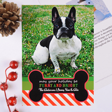 Furry & Bright Personalised Photo Christmas Card