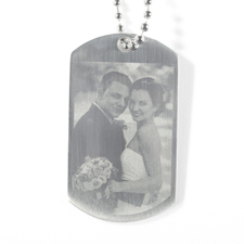 Engrave Wedding Photo Dog Tag Pendant