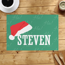 Christmas Hat Personalised Placemat