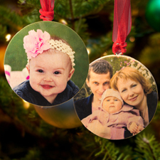 Personalised Wooden Photo Round Ornament