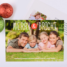 Merry & Bright Personalised Christmas Photo Card