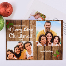 Merry Little Christmas Personalised Photo Card