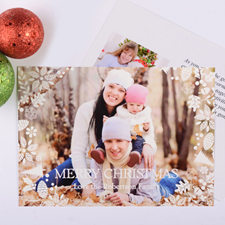 White Christmas Personalised Photo Card
