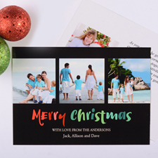 Painted Christmas Personalised Photo Card