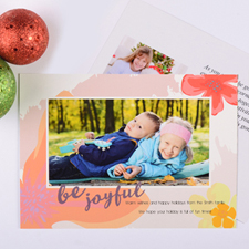 Be Joyful Personalised Photo Christmas Card