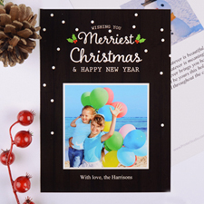 Merriest Christmas Personalised Photo Card