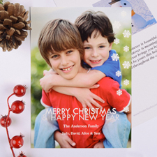 Sparkle Holiday Personalised Photo Card