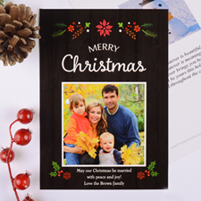 Floral Christmas Personalised Photo Card