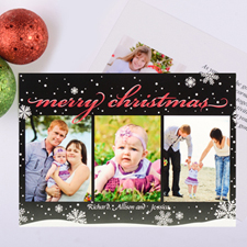 Frosted Season Personalised Photo Christmas Card