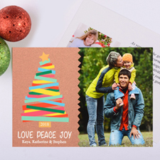 Merry Trees Personalised Christmas Photo Card