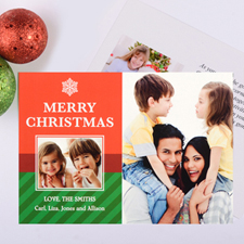Snowflake Perfection Personalised Christmas Photo Card