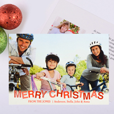Contemporary Christmas Personalised Photo Card