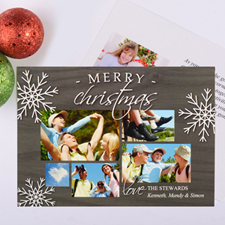 Happiest Snowflake Personalised Photo Christmas Card