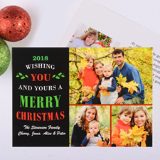 Christmas Wishes Personalised Photo Card