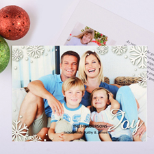 Script Joy Personalised Photo Christmas Card