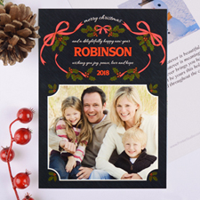 Wreath Of Love Personalised Photo Christmas Card