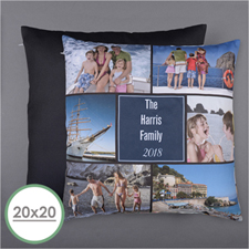 Personalised Six Collage Photo Pillow 20