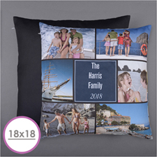 Personalised Six Collage Photo Pillow 18
