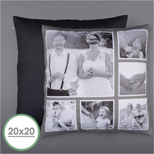 Rustic Instagram Personalised Six Collage Photo Pillow 20