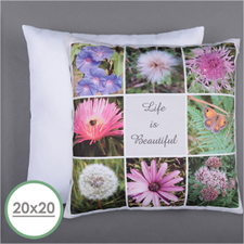 Personalised 8 Collage Photo Pillow 20