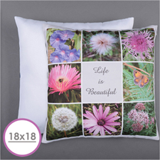 Personalised 8 Collage Photo Pillow 18
