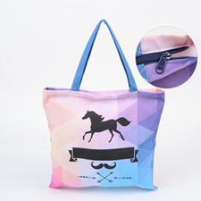Custom All Over Print Tote Bag With Zipper, 16