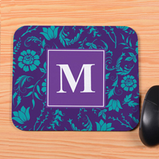 Purple Blooms Personalised Mousepad