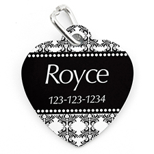 Vintage Personalised Pet Tag Heart Shape