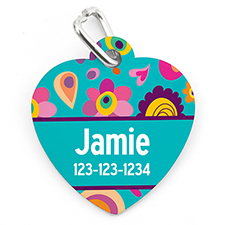 Spring Personalised Pet Tag Heart Shape