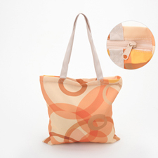 All Over Print Tote Bag With Zipper 13X13