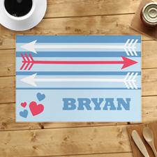 Arrow And Heart Personalised Placemat