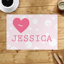 Love Arrow Personalised Placemat