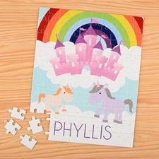 Unicorn Personalised Name Kids Puzzle, 8