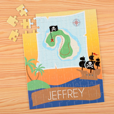 Pirate Personalised Name Kids Puzzle, 8